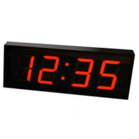 "5"" LED Four Digit Clock with Timer - 21""W, V22118"