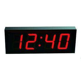 "4"" LED Four Digit Clock with Timer - 18""W, V22115"