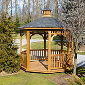 Synthetic Wood Octagonal Gazebo 10', F10016