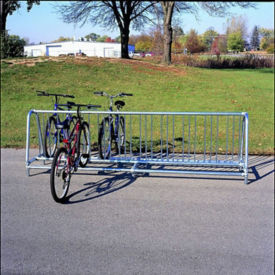 Surface Mount Double Sided Bike Rack 8', F10256
