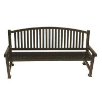 6' Bench with Bowed Back, F10140