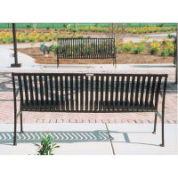 Vertical-Slat 6' Bench with Back, F10141