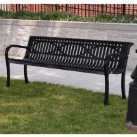 6' Bench with Wave-Style Back, F10146