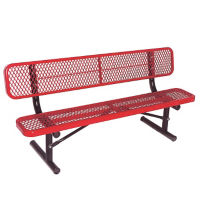 Portable 6' Bench with Back, F10147