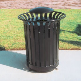 36 Gallon Waste Receptacle with Rain Bonnet, F10150