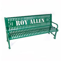 Customizable 4'L Outdoor Bench with Logo, F10272