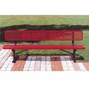 Customizable 6'L Team Bench with Logo, F10274