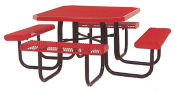 "Customizable Portable Picnic Table 46"" x 46"" with Logo, F10279"