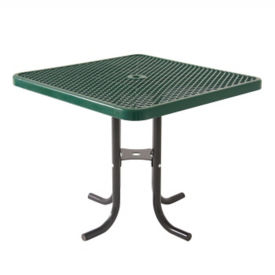 "Portable Food Court Cafe Table 36"" Square, F10282"