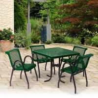 Outdoor Food Court Cafe Table and Chairs Set, F10285