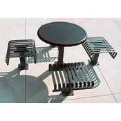 """36""""Table with 4 Seats Surface Mount, T11059"""