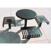 """36""""Table w/4 Seats In Ground, T11058"""