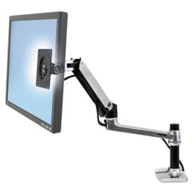 Adjustable Height Single Monitor Mount, E10003
