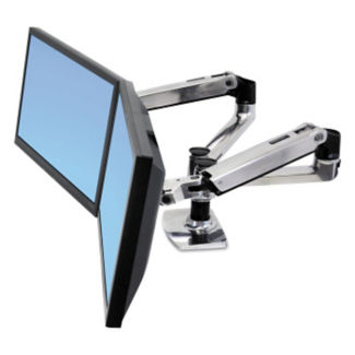 Adjustable Height Dual Side-By-Side Monitor Mount, E10004
