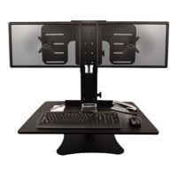 Dual Monitor Adjustable Height Station Converter, V21959