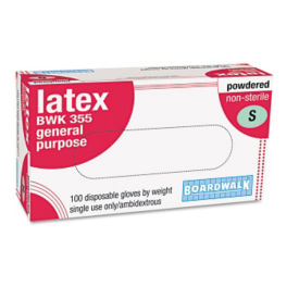 Disposable General-Purpose Powdered Latex Gloves Box of 100, H10049