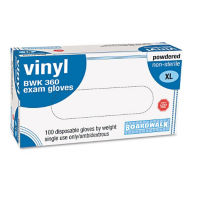 Disposable Powdered General Purpose Vinyl Gloves Box of 100, H10050