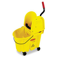 Mop Bucket with Press Down Wringer 35 Qt, V21318