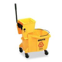 Mop Bucket with Side Press Wringer 35 Qt, V21319