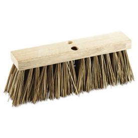 "Street Broom Head with Palmyra Bristles 16""W - Carton of three, V21769"