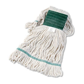 White Super Looped Medium Sized Wet Mop Head - Carton of Twelve, V21784