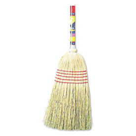 "Mixed Fiber Maid's Broom 42""L - Carton of Six, V21792"