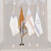 Papal Vatican Flag Set with 4' x 6' Flag with Stand, V20637