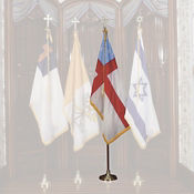 Episcopal Flag Set with 4' x 6' Flag and Stand, V20639