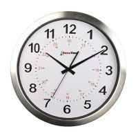 "Europa 12"" Aluminum Synchronized Clock, V22081"