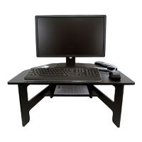 Stand-Up Desk Converter with Open Shelf, A10049