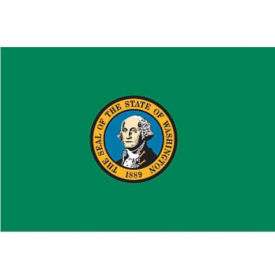 Washington State Flag 3' Wide x 5' Long, D90157