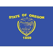 Oregon State Flag 3' Wide x 5' Long, D90158