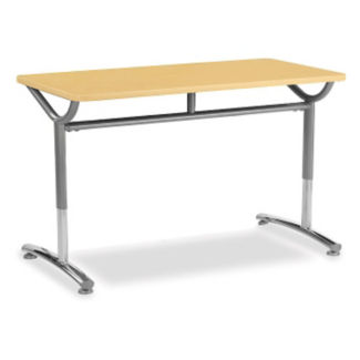 """Adjustable Height Single Pedestal Table 60"""" x 20"""", A10999"""