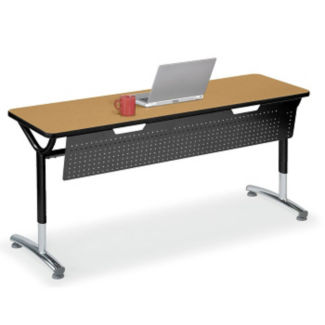 """Adjustable Height Table with Modesty Panel 48"""" x 20"""", A11033"""