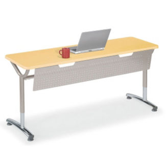 """Adjustable Height Table with Modesty Panel 60"""" x 20"""", A11034"""