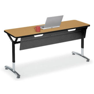 """Adjustable Height Table with Modesty Panel 72"""" x 20"""", A11035"""