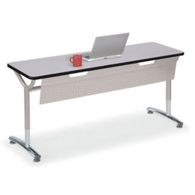 "Adjustable Height Table with Modesty Panel 48"" x 24"", A11036"