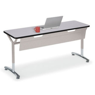 """Adjustable Height Table with Modesty Panel 48"""" x 24"""", A11036"""