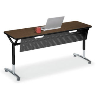 """Adjustable Height Table with Modesty Panel 60"""" x 24"""", A11037"""