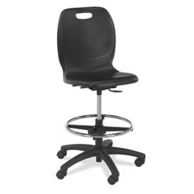 Polypropylene Large Seat Lab Stool, C70041