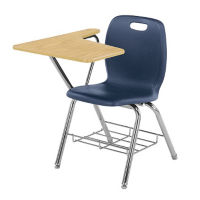 Polypropylene Compact Hard Plastic Tablet Arm Student Chair, C70043
