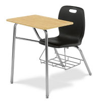 Polypropylene Hard Plastic Tablet Arm Student Chair, C70045