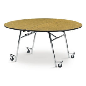 "72"" Round Mobile Folding Table, T11158"