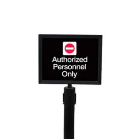 "Black Sign Frame for Stanchion -  8.5""W x 11""H, H10125"
