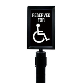"Black Sign Frame for Stanchion -  7""W x 11""H, H10133"