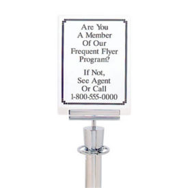 "Acrylic Paper Sign Holder - 8.5""W x 11""W, H10137"