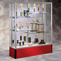 "60"" Wide Spirit Display Case with Mirror Back, B32165"