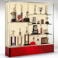 "72"" Wide Spirit Display Case with Fabric Back, B32169"