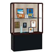 "Two Shelf Fabric Back Display Case - 72""H, B34502"