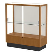 "Oak Trophy Display Case with White Back - 36""W x 40""H, D81042"